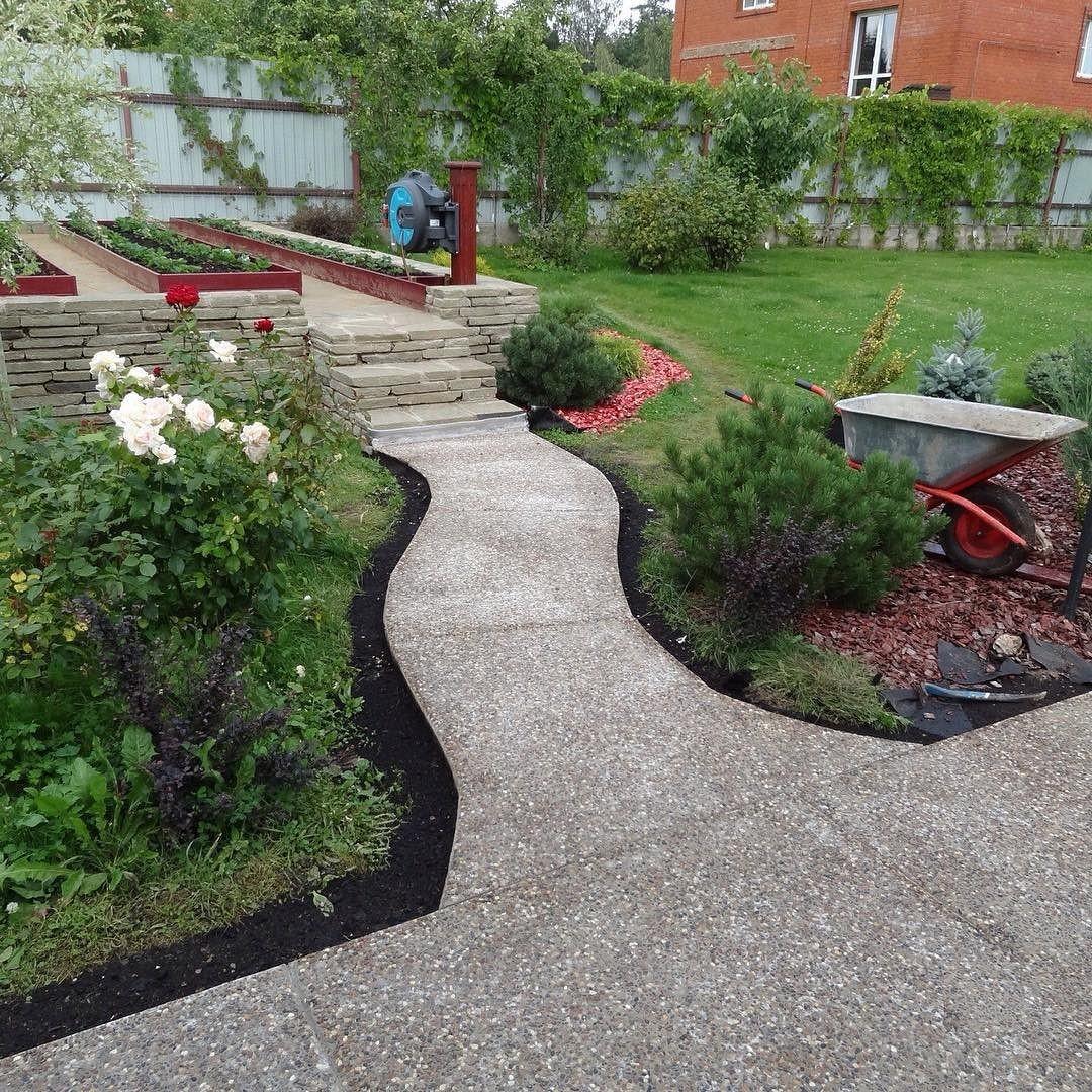 Садовая дорожка из цемента-асфальта